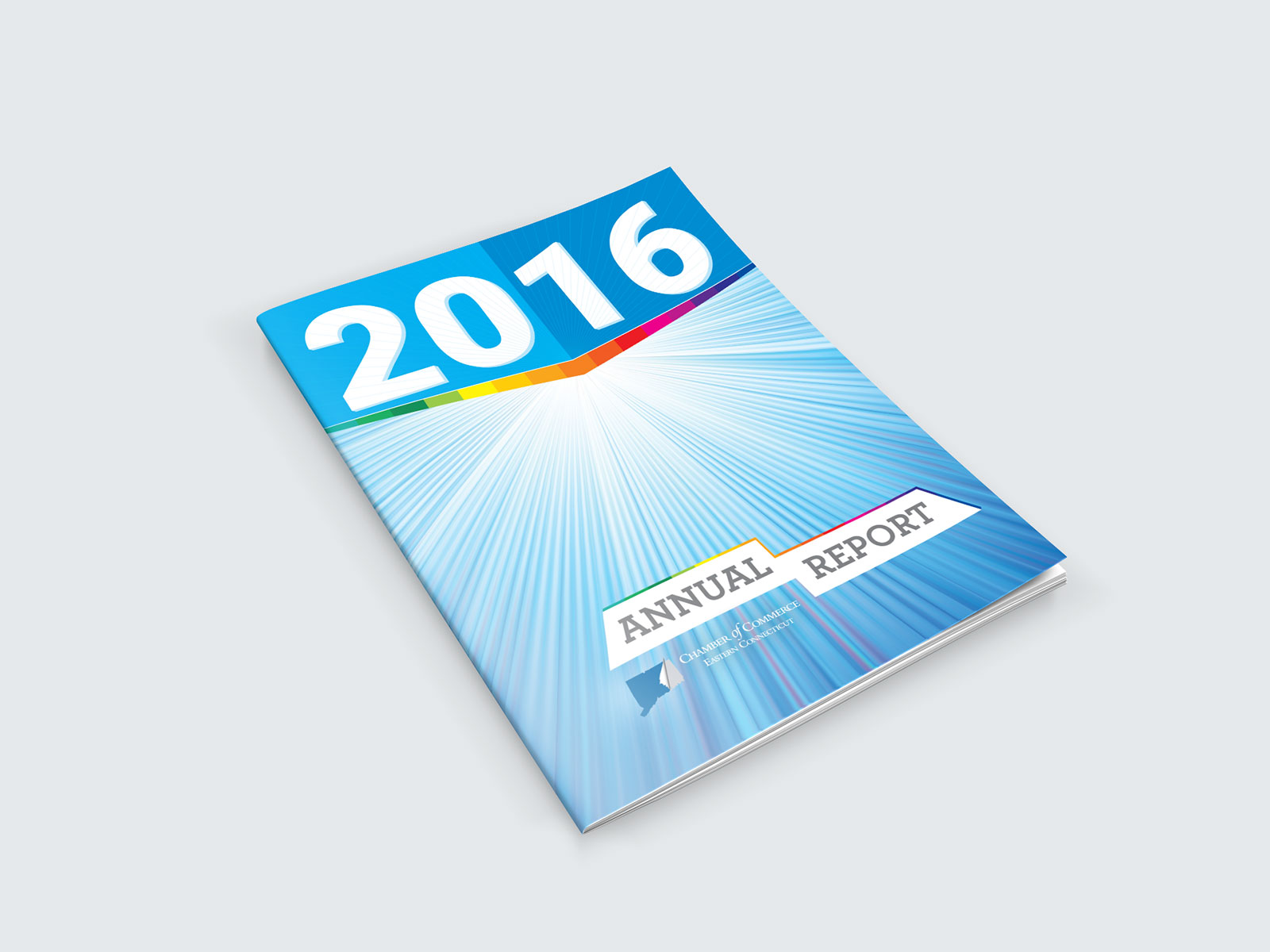 Annual report booklet cover