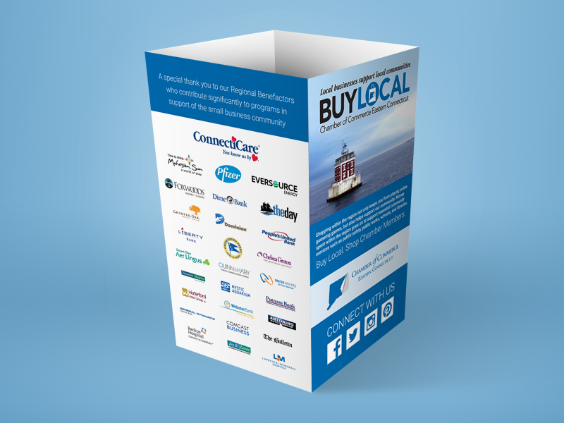 Event table sign display with sponsors