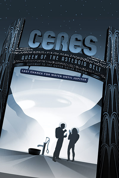 JPL Poster of Ceres