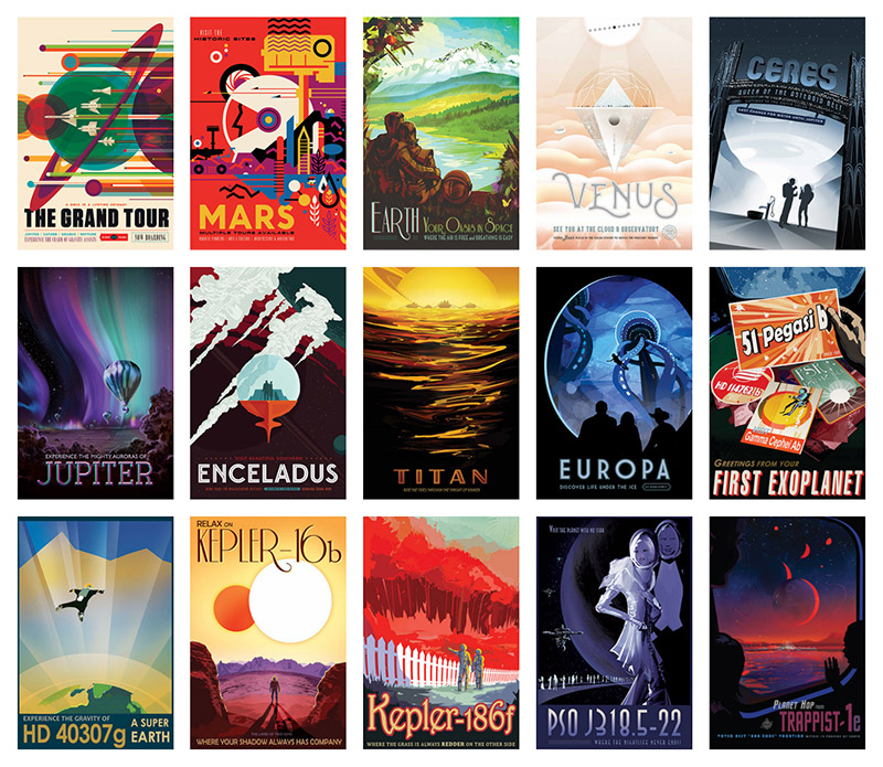 15 JPL Posters exploring of our universe
