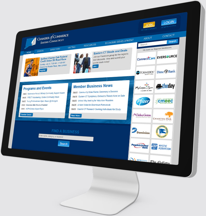Chamber of Commerce ECT Desktop Website