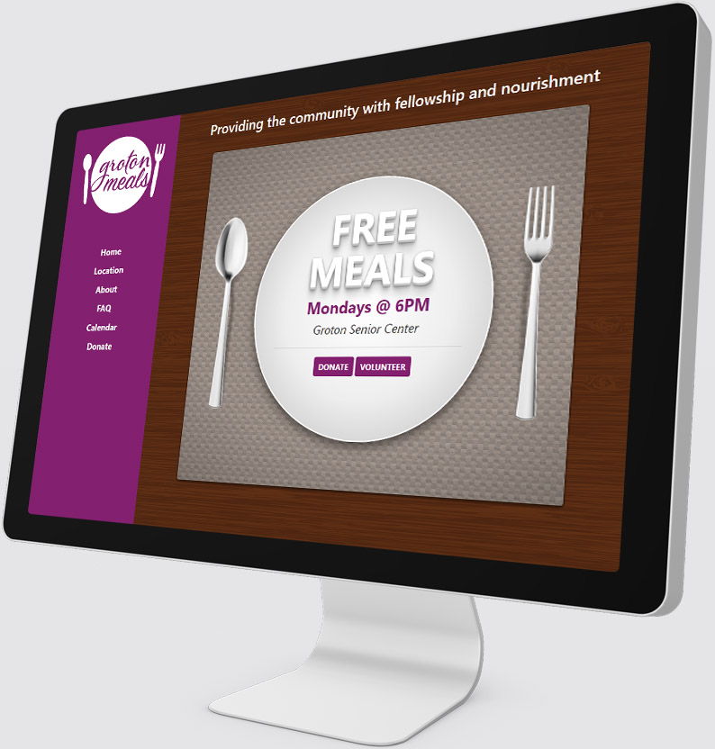 Groton Community Meals Desktop Website