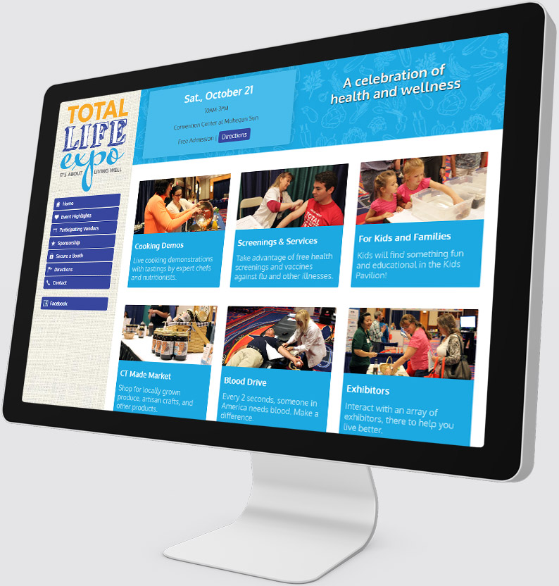 Total Life Expo Desktop Website