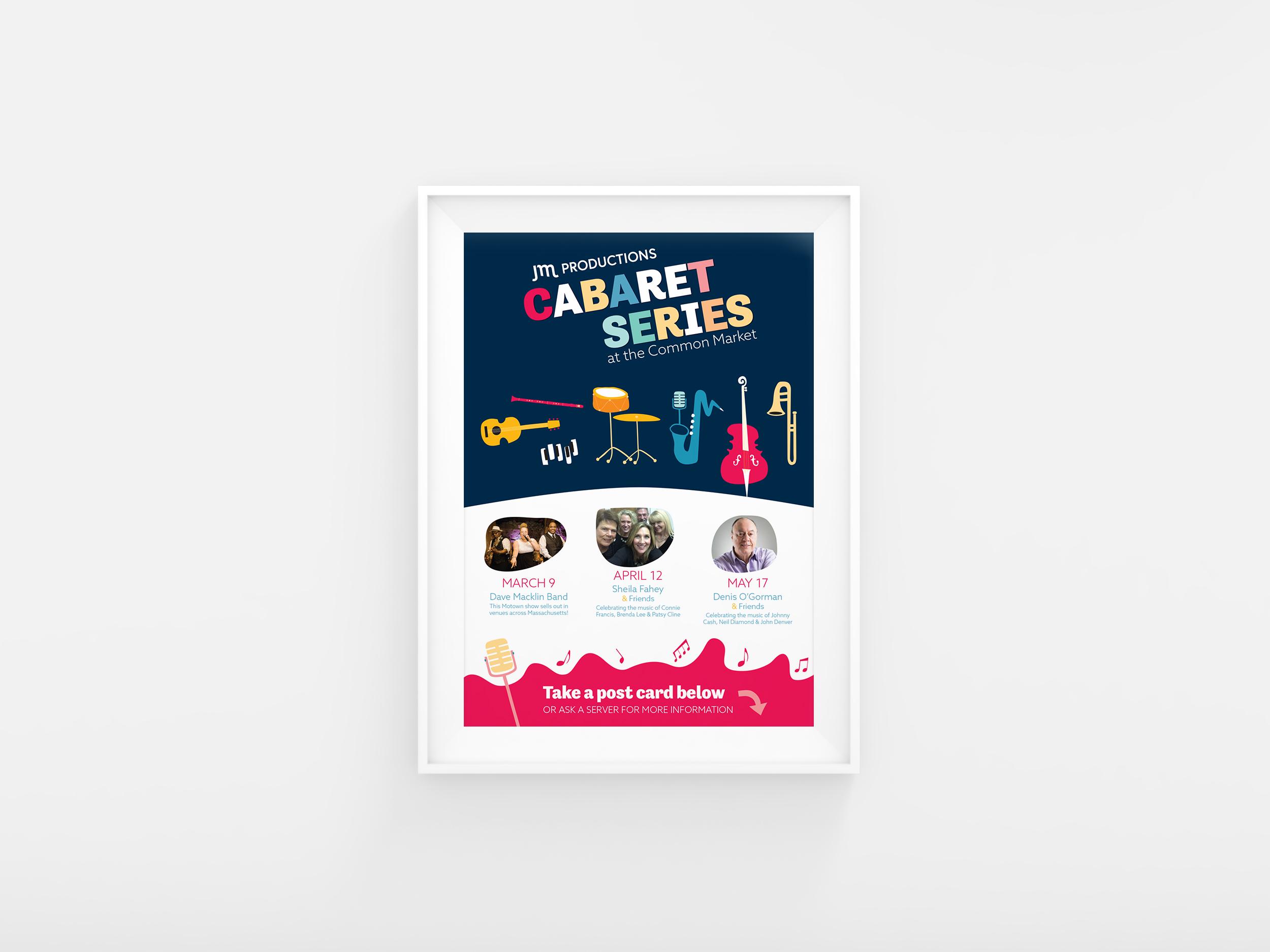 JM Productions cabaret series poster
