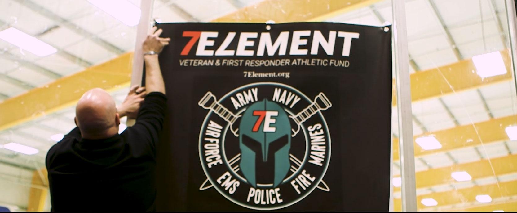 7 Element logo on a banner