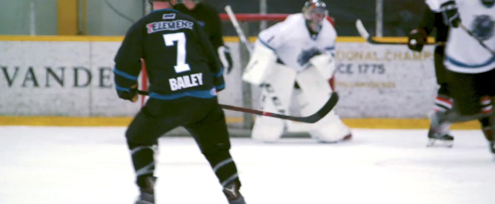 7 Element logo on a hockey jersey