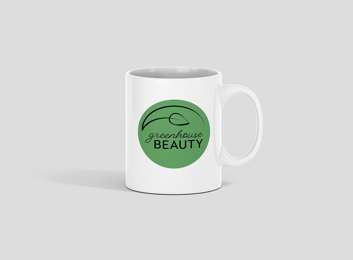 Greenhouse Beauty Logo on a mug