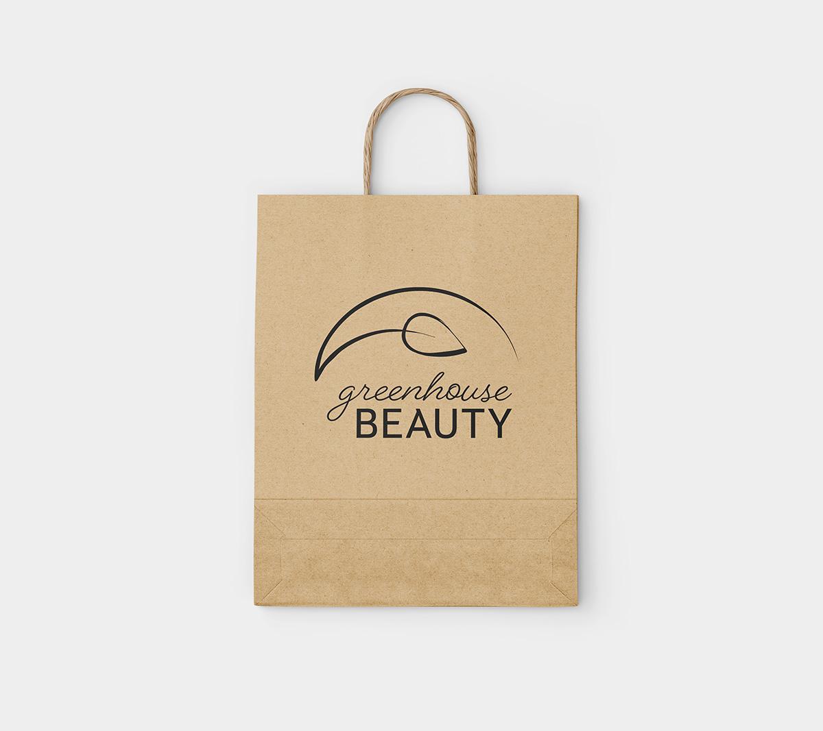 Greenhouse Beauty Logo on a shopping bag