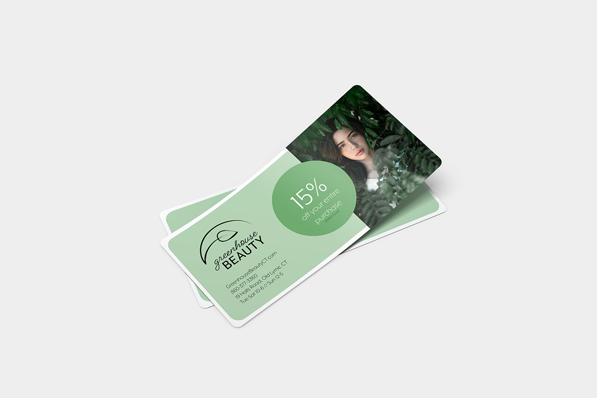 Greenhouse Beauty coupon mockup