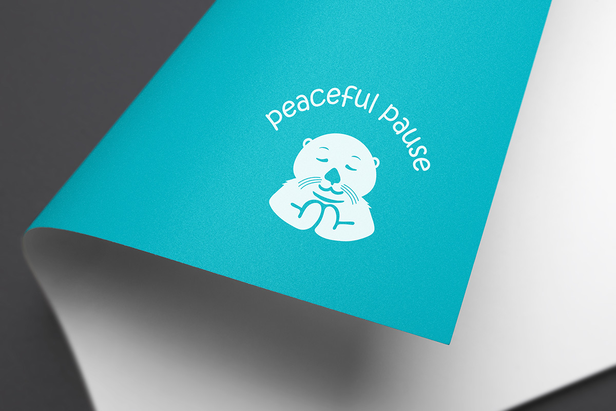 Peaceful Pause on paper mockup